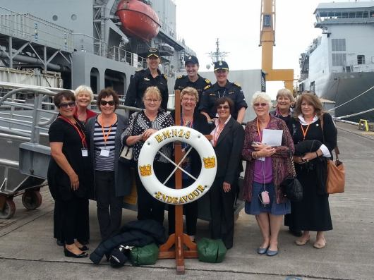 Luncheon on HMNZS Endeavour - November 2014  (I'm in the back row, far right)