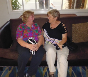 Meeting with longtime editor TWRP's Maggie Johnson in San Diego - May 2014 (I'm on the right)