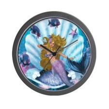 Mermaid Wall Clock - $37.50 CDN
