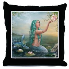 Marine Mermaid Throw Pillow - $37.50 CDN