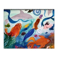 Mermaid Art Wall Calendar - $30 CDN