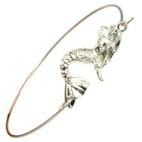 Mermaid Charm Bangle Bracelet - $5.99 CDN