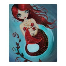 Ruby Mermaid Throw Blanket - $73.50 CDN