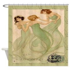 Vintage French Mermaid Shower Curtain - $97.50 CDN